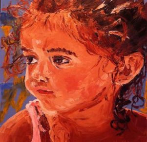 """""""Carmen"""" huile sur toile 18x18, 2013"""