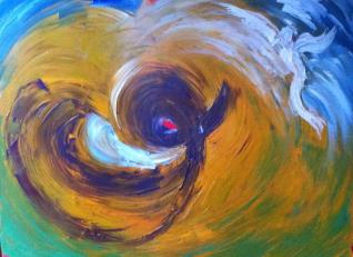 """""""Lost soul"""" acrylic sur toile, 26x24, 2011"""