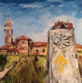 """""""peacefulness"""" huile sur toile 8x8, 2014"""