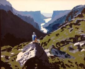 """""""Récompense à Gros Morne"""" huile sur toile 30x36, 2012"""