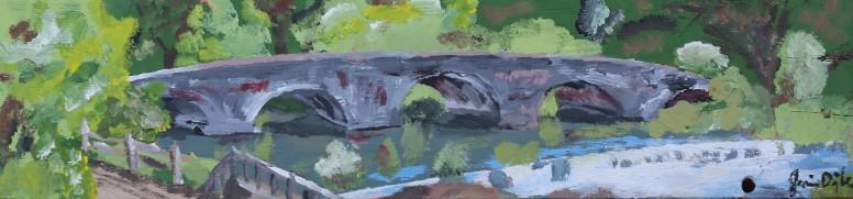 """""""puenta"""" acrylic sur bois 4x12, 2012"""