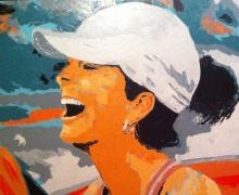 """""""joie compétitive"""" huile sur toile 30x40, 2012"""