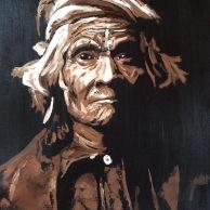 """""""Wyemah"""", Oil on Canvas, 18x14, 2015- $600 an Edward S Curtis"""
