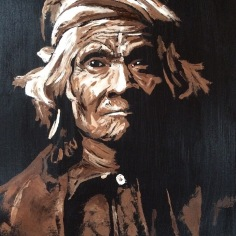 """Wyemah"", Oil on Canvas, 18x14, 2015- $600 an Edward S Curtis"
