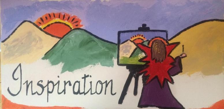 """Inspiration"" acrylic sur toile, 8x16, 2014"