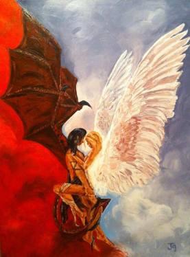 """Forbidden love"" oil on canvas 30x20, 2013"