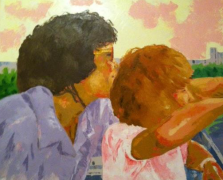 """mamam"" huile sur toile 30x40, 2011"