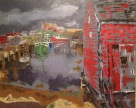 """Peggy's Cove"" huile sur toile, 24x36, 2011"