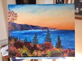"""""""N.-B. Coastline"""" (commission)"""
