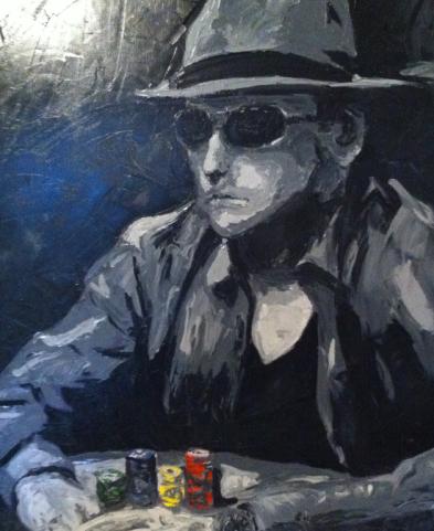 """""""poker face"""" huile sur toile 24x20, 2012"""