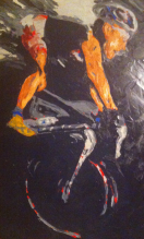 """""""fearless"""" huile sur toile, 32x26, 2011"""
