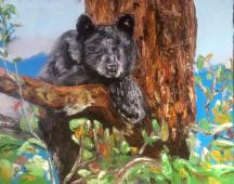 """Spirit of the bear"" huile sur toile 20x24, 2014"