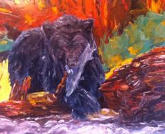 """""""healing spirit"""" huile sur toile 20x24, 2013"""