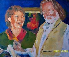 Les artistes Huile sur toile 20 x 302008