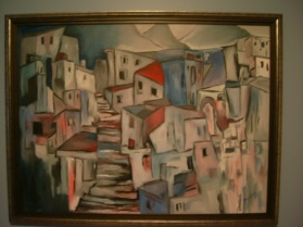 """lost village"" oil on canvas 24x30, 2000"