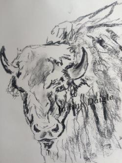 """Grattitude"", Dessin au crayon, 8 x8, 2015"