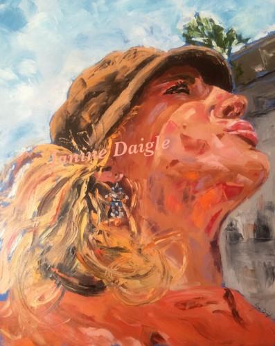 """self reflexion"", oil on canvas, 22x18, 2015- $600"