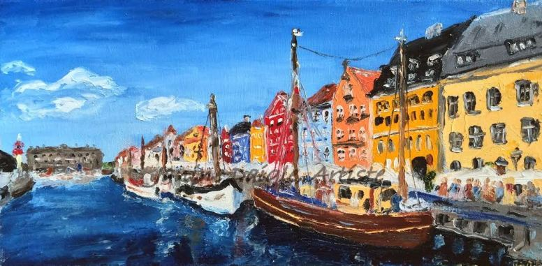 """Copenhagen"", Oil on Canvas, 8x16, 2015 - SOLD"
