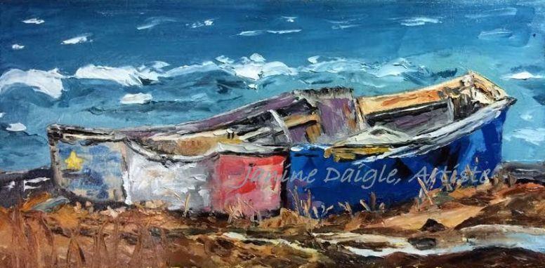 """""""La Dôré à pépére"""", Oil on Canvas, 8x16, 2015- SOLD"""
