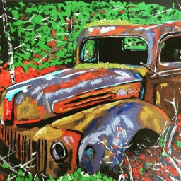 """""""Tired Old Ford"""", Oil on Canvas, 2015- SOLD"""