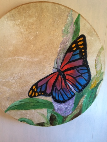"""""""Transformation""""- Oil on drum, SOLD"""