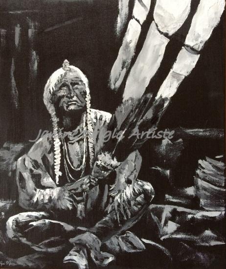 """Wisdom Keeper"", Oil on Canvas, 24x18, 2015 - SOLD"