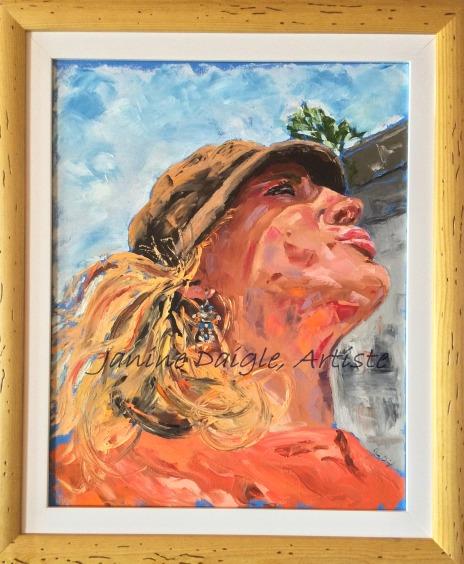 """""""Le Regard d'une Nomade"""", Huile sur toile, 20x26, 2015, Not for sale"""