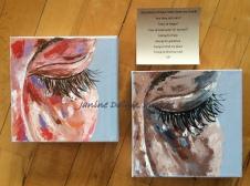 """tear drops"" Acrylic on canvas, 8x8, 2015- SOLD"