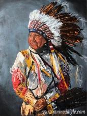 """""""Ancestor"""", Oil on canvas, 244x18, 2015- $450"""