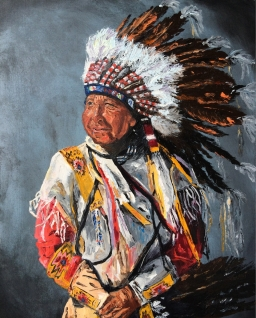"""Ancestors"", Oil, 24x18, 2016 $430"