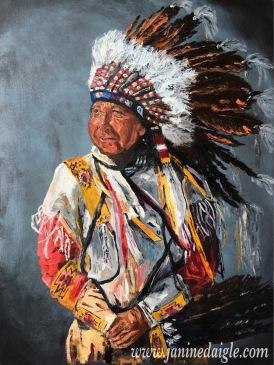 """Ancestors"", Oil on canvas, 24x18, 2015- $400"