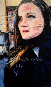 """Autumn Breeze"", Oil on Canvas, 30x18, 2015 $480"