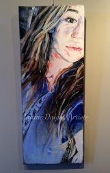 """""""Rêves"""", Huile sur Toile, 30x12, 2015- $300"""