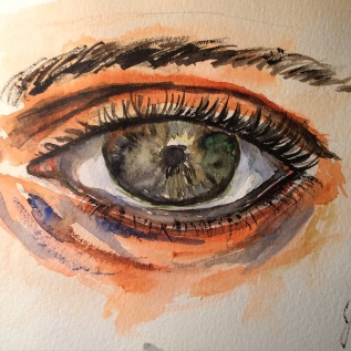 sketch- my first try with water color paint