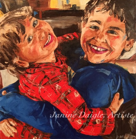 """Les boys"" (SOLD)"