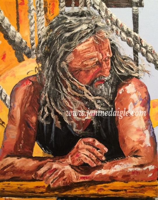 """Captain Klass"", Oil on Canvas, 22x18, 2016 - private collection Original photo: Photographer Stacy Cossolini Niedzwiecki"
