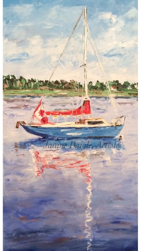 """SOLD """"Little Sailboat"""""""