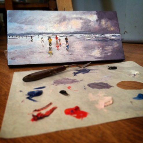 """""""The beach"""" (SOLD)"""