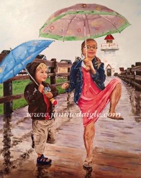 """""""Sous la pluie"""" (commission)"""