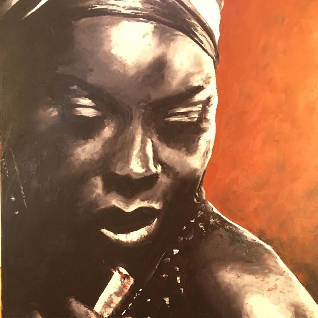 Nina Simone, oil